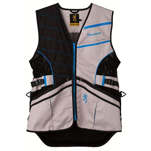 Browning Ace Shooting Vest, Blue, X-Large Browning Shooting Vest