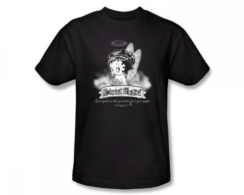 Betty Boop - Street Angel Slim Fit Adult T-Shirt in Schwarz, XX-Large, Black (Boop-street Betty Angel)