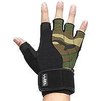 Uomo di alta qualità guanti fitness, lungo polso guanti avvolgere