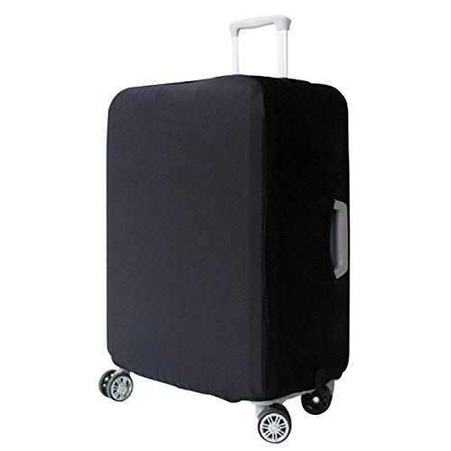 Elastisch Kofferhülle Kofferschutzhülle Abdeckung Gepäck Cover Reisekoffer Hülle Kofferbezug Koffer Schutzhülle Luggage Cover mit Band & Klettverschluss (Schwarz, XL)