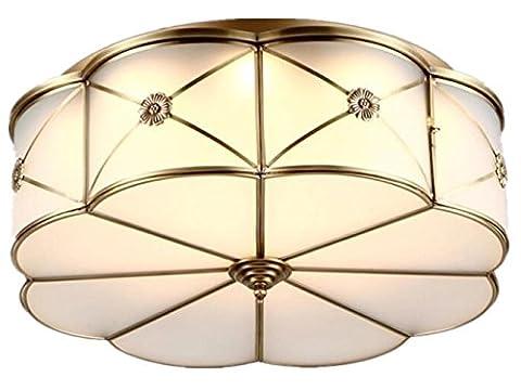 FYN LED Deckenleuchten 36W Weiß Rund Durchmesser 49cm, Blütenform, Einfach, Romantisch, Warmes Licht, Beleuchtung für Wohnzimmer, Schlafzimmer, Kinderzimmer, Esszimmer, Deckenleuchten Energy Class A ++ , diameter (Runde Dekorative Jar)