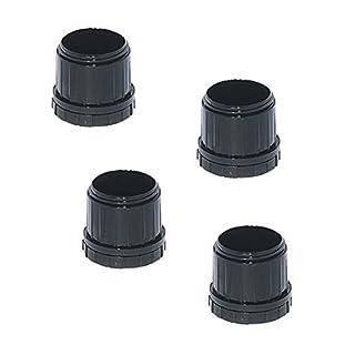 Gedotec Tischbein Möbelgleiter Kunststoff Bodengleiter für Tischfüße rund | Gleiter für Möbelfüße Ø 60 mm | +25 mm höhen-verstellbar | Kunststoff schwarz | 4 Stück