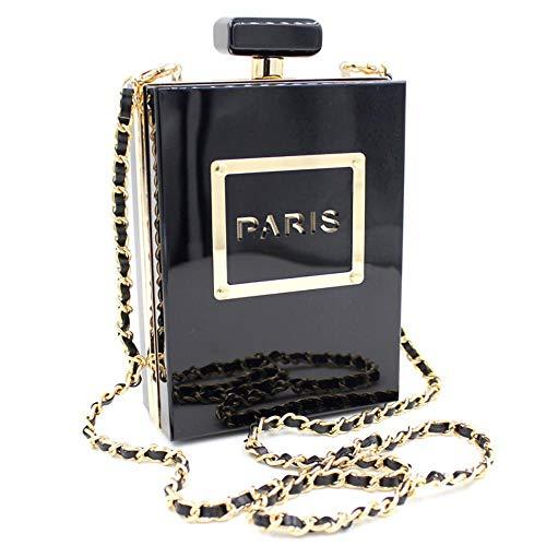 Frauen Tasche Parfüm-Flasche Party Tasche Cocktail Party Perle Tasche Frauen Hand mit Cheongsam Kleid Tasche Abend-Paket (Black) - Parfüm-flasche Sammlung