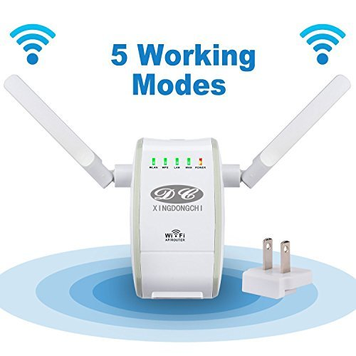 Wifi Router XINGDONGCHI 300Mbps Wireless Range Extender Hotspot Access Point Amplifier Wireless-N Mini AP Signal Booster 802.11n b g High Speed Network Router AP Client Bridge Repeater Modes with WPS  available at amazon for Rs.3899