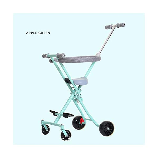 Children Stroller Trolley With Brake Baby Artifact 4 Round 1-3-4-5-6 Years Old Baby Out Baby Child Hand Folding Cart,b  1. Foldable design, easy to put into the trunk, making the journey easier. 2. Light and compact, for the mother to travel to reduce the burden! 3. 360° freely rotates the front wheel and rear wheel brakes. 1