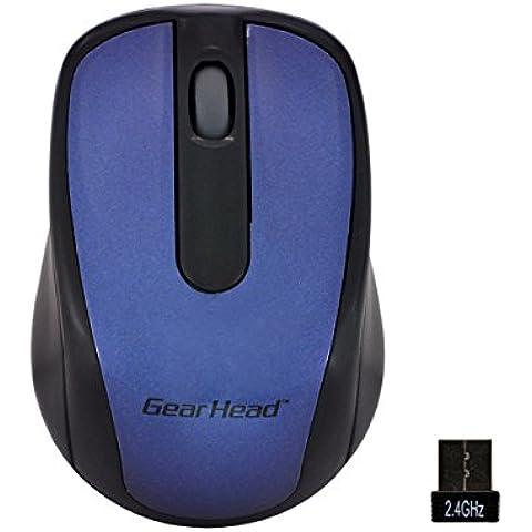 Gear Head MP2120BLU - Ratón (RF inalámbrico, Oficina, Rueda, Óptico, Azul, USB)