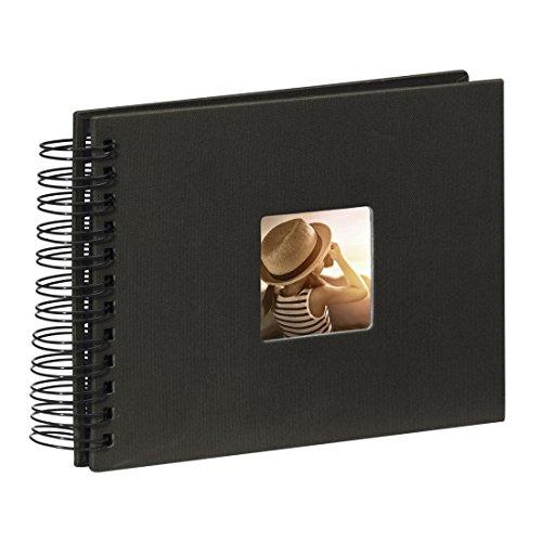 Hama Fine Art - Álbum de fotos, 50 páginas negras 25 hojas, álbum con espiral, 24 x 17...