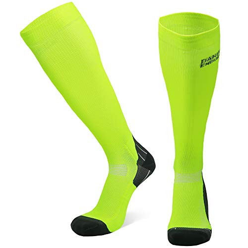 DANISH ENDURANCE Chaussettes de Compression (Jaune - 1 Paire, EU 39-42 // UK 7-9)