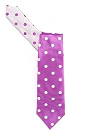 Duchamp Lilac And White Large Spot Tie
