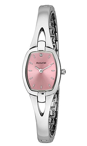 Accurist Ladies Pink Dial Stainless Steel Dial Watch LB1520P
