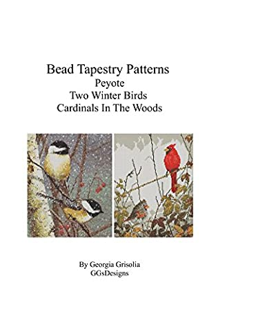 Bead Tapestry Patterns Peyote Two Winter Birds Cardinals In The Woods