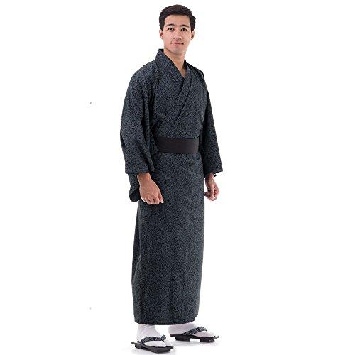 Japanischer Herren Yukata Kimono Baumwolle M L XL (Geisha Kostüm D'halloween)