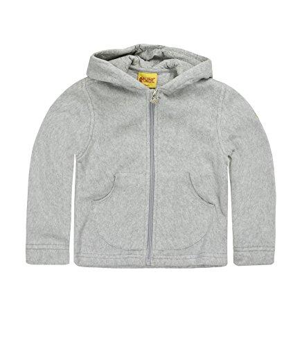 Steiff Unisex - Baby Sweatjacke 0006837, Gr. 68, Grau (grau melange)