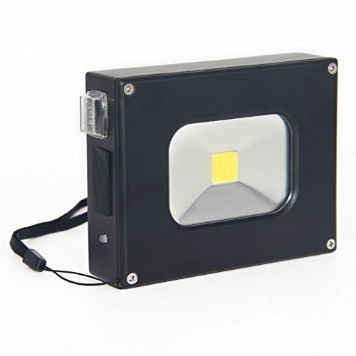 GDEAST 10W Mini Tragbar Flutlicht LED Ultra Dünn Taschenlampe 4400mah, 6000K,500LM ,Outdoor wasserfest Notfall Power Bank für das Wandern Camping Angeln
