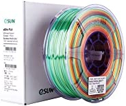 eSun eSilk-PLA filament_Rainbow Multicolor