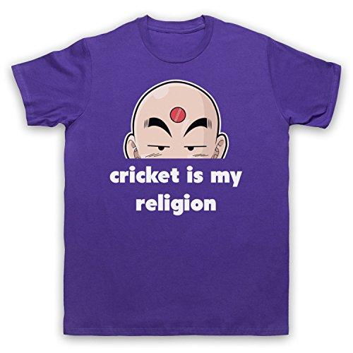 Cricket Is My Religion Cricket Slogan Herren T-Shirt Violett