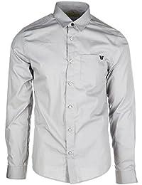 Versace Jeans camisa de mangas largas hombre nuevo slim pocket tiger gris