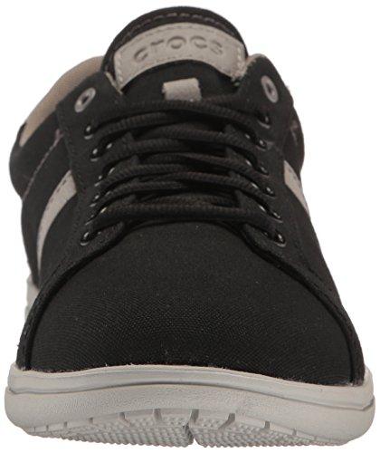 crocs Men's Torino Lace-Up M Fashion Sneaker Black/Pearl White