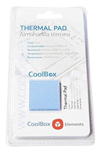 Coolbox Coo-TGH3W-Pad - Kit de Pasta térmica para portátil (4 Pads) Color Gris
