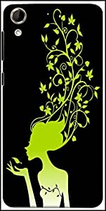 Snoogg Womens Brain 2488 Designer Protective Back Case Cover for HTC Desire 728