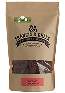 Francis & Green - Rooibos, Tè Tisane Biologica di Sfusa Foglia Intera, 200g