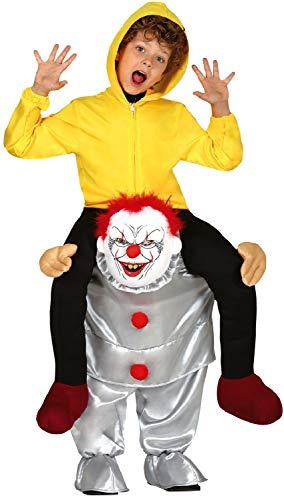 Kinder Kostüm Reiten - Fancy Me Kinder Jungen Mädchen Gruseliges Reiten-On Step In Clown Halloween Gruseliger Film Kostüm Outfit 7-12 Jahre