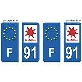 91 - ESSONNE Autocollants, Stikers plaque immatriculation