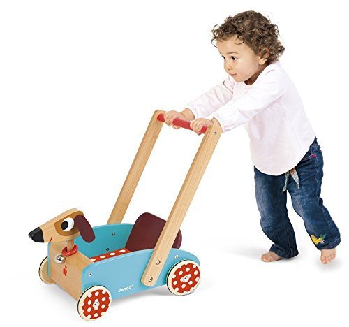Janod J05995 - Lauflernwagen aus Holz, Crazy Doggy - 3