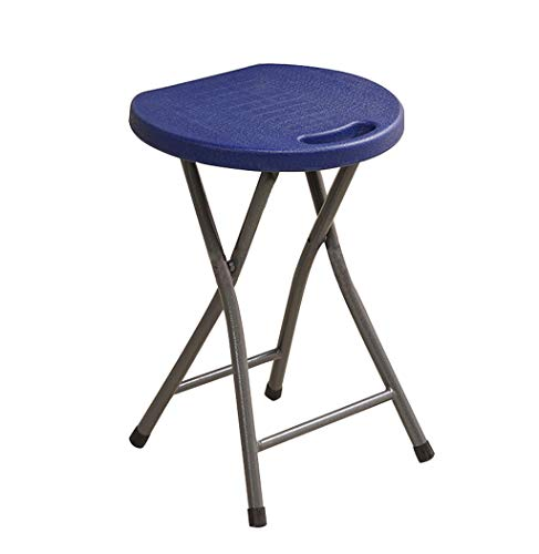 Uygdygheiftadfrfiu Haushaltsfaltenhocker Tragbarer Stuhl Erwachsene Kleine Bank Multi-Color optional Größe 32 * 25 * 46cm (Farbe : Navy blau) - Navy Computer Stuhl