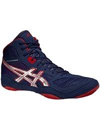 Asics - Zapatillas de lucha, boxeo, Snapdown, colores azul oscuro, plateado y rojo, J502Y 5093, - Navy/Silver/Red