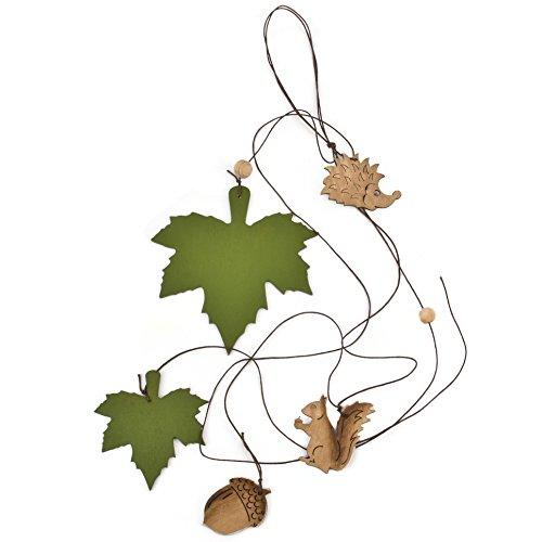 er Herbst Deko Holz 80cm grün braun (Halloween-girlanden Zu Machen)