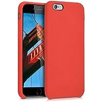 kwmobile Funda para Apple iPhone 6/6S - Case para móvil de TPU silicona - Cover trasero en rojo
