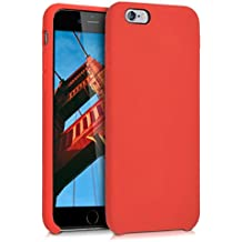 kwmobile Funda para Apple iPhone 6 / 6S - Case para móvil de TPU silicona - Cover trasero en rojo