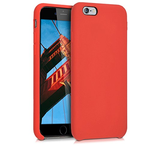 Kwmobile apple iphone 6 / 6s cover - custodia per apple iphone 6 / 6s in silicone tpu - back case cellulare rosso