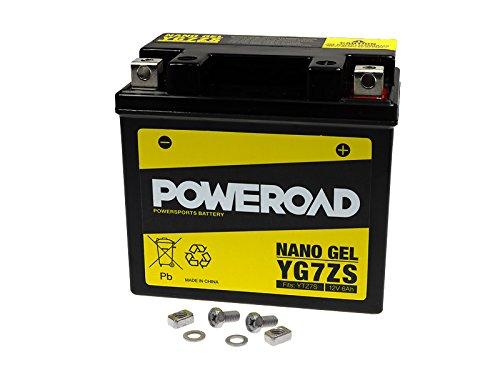 GEL-Batterie-Poweroad YTZ7-S 6AH für AJP Gas Gas HM-Moto Husaberg Husqvarna Kawasaki Polaris SYM