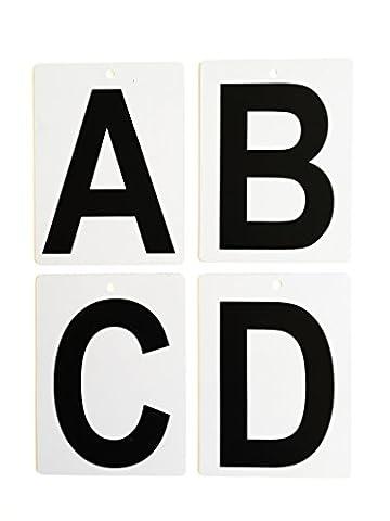 Handball Karten ABCD, Set zur Markierung der Mannschaftsoffiziellen beim Spiel auf der Bank