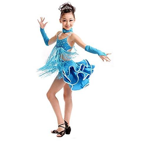 Danse Costumes Pour Les Filles Dans Récitals - Danse Fille Robe Costume Party robe latine
