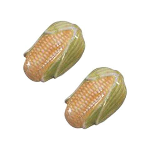 Mignon, maïs, maison, céramique, armoire, boutons, tiroir, poignée, poignées, ensemble, 4