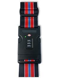 "LEOVAR 2"" Gepäckgurt mit TSA Kombinationsschloss mit SEARCHCHECK Indikator rot - schwarz"