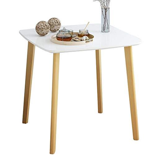xy Klapptisch- Runder Balkon Kleiner Couchtisch, Esszimmer Wohnzimmer Multifunktionaler Einfacher Massivholz Runden Tisch (Farbe : Weiß, größe : 80 * 80 * 74cm) -