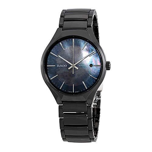 Rado True cuore aperto quadrante nero ceramica orologio automatico uomo R27100912