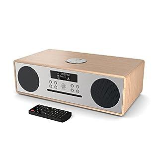 Majority Oakington DAB/DAB+/UKW Digitales Radio - CD-Player - Bluetooth - Stereo-Lautsprechersystem - Fernbedienung - Dual USB Eingang/Aufladen - AUX & USB Anschluss (Oak)