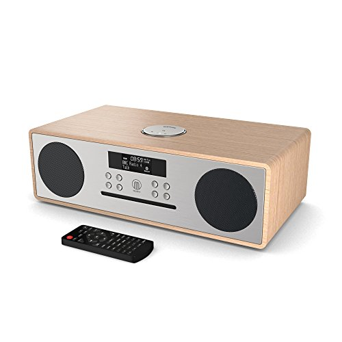 Oakington DAB/DAB+ Digitales Radio, CD-Player, Bluetooth, Stereo-Lautsprechersystem, Fernbedienung, Dual USB Eingang/Aufladen, AUX-in (Oak)