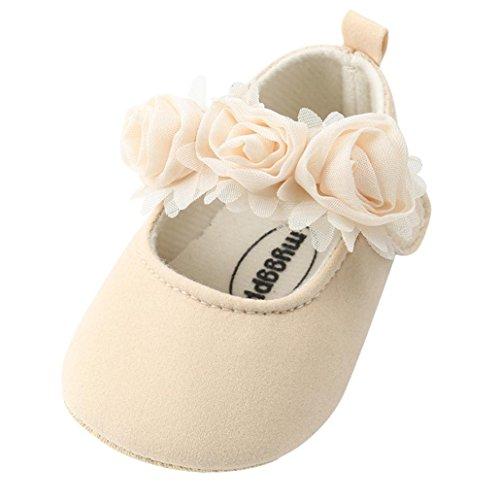MEIbax Taufschuhe Krabbelschuhe,Baby Mädchen Prinzessin Schuhe,Mode Blumen Kleinkind erste Wanderer Kinderschuhe Taufe Hochzeit Party Schuhe Weicher Babyschuhe