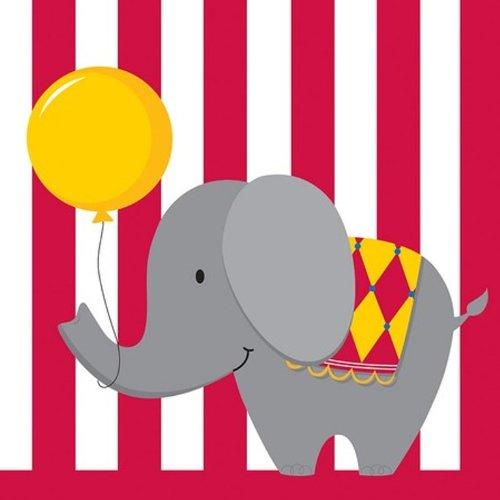 Unbekannt Creative Converting Circus Zeit Getränke Servietten, 16Count, Circus Time, Lunch
