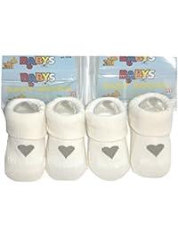 "2x Babysöckchen ""I love Mama/ I love Papa"" im Set Gr. 0-6 Mon. zwillinge geschenk i love mum"