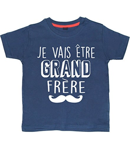 2-3 Ans Tee Shirt Marine 'Je Vais être Grand Frère'
