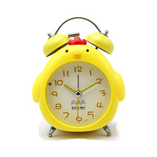 Despertador JXLBB Noche Luz Chick Amarillo Reloj Estudiante
