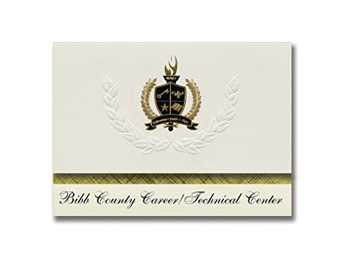 Signature Announcements Bibb County Career/Technical Center (West Blocton, AL) Graduation Announcements Presidential Basic Pack 25 mit goldfarbenen und schwarzen metallischen Folienversiegelung