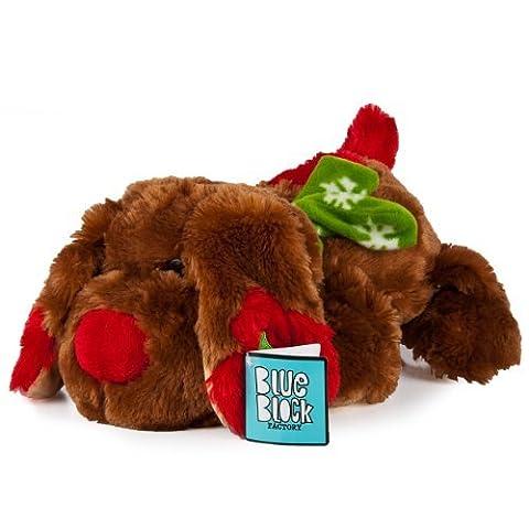 Plüschtier Tier Hund tragen PinguinSchneemann holiday christmas 28 cm - 38 cm (Brown Dog)
